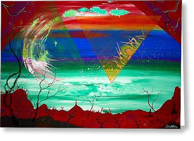 Omega Wave  Rendition Greeting Card by Jody Poehl