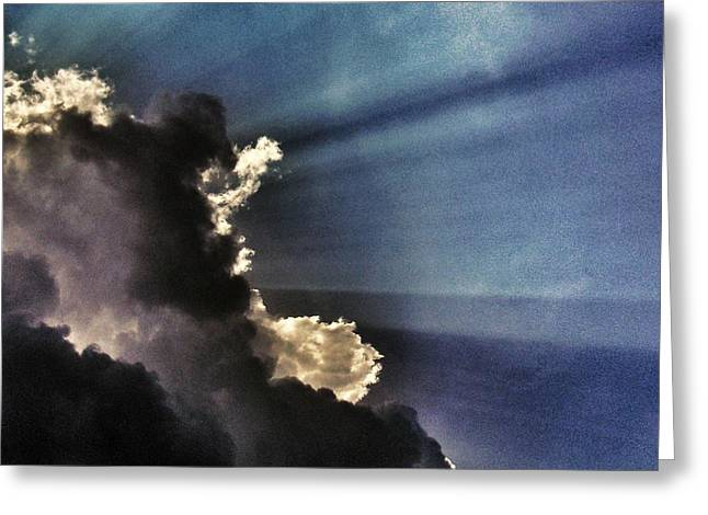 Grey Clouds Greeting Cards - Omen Greeting Card by Marianna Mills