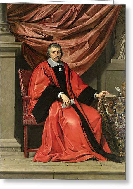 Full-length Portrait Greeting Cards - Omer Talon, 1649 Oil On Canvas Greeting Card by Philippe de Champaigne