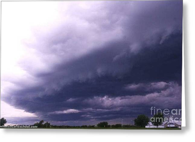 Ominous Clouds Greeting Card by PainterArtist FIN