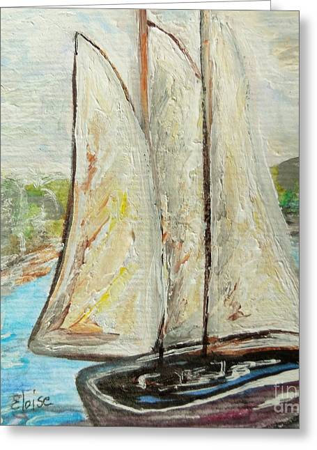 On A Cloudy Day - Impressionist Art Greeting Card by Eloise Schneider