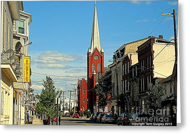 Main Street Greeting Cards - On A Jersey Main Greeting Card by Tami Quigley