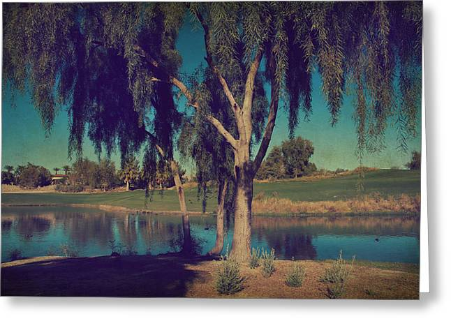 Desert Lake Digital Art Greeting Cards - On a Lazy Afternoon Greeting Card by Laurie Search