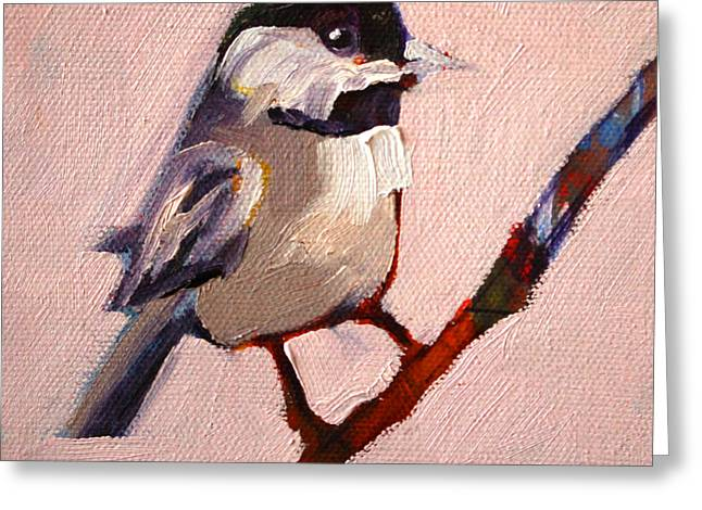 Gray Bird Greeting Cards - On a Limb Greeting Card by Nancy Merkle