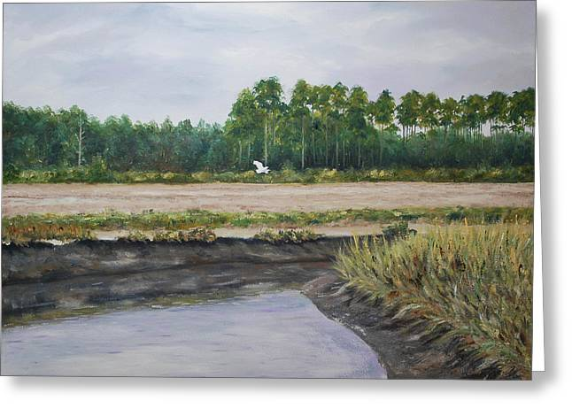 Stanton Allaben Greeting Cards - On A Tidal Creek Greeting Card by Stanton Allaben