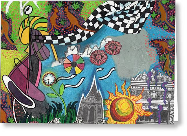 Citylife Greeting Cards - On A Warm Summer Night Down Under Greeting Card by Genevieve Esson