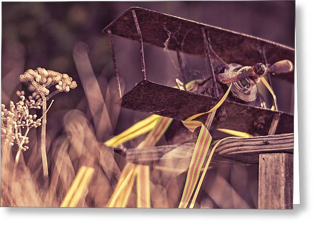 Garden Art Greeting Cards - On a Wing and a Prayer Greeting Card by Caitlyn  Grasso