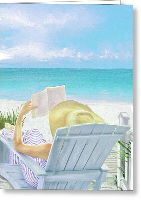 On Beach Time Greeting Card by Jane Schnetlage