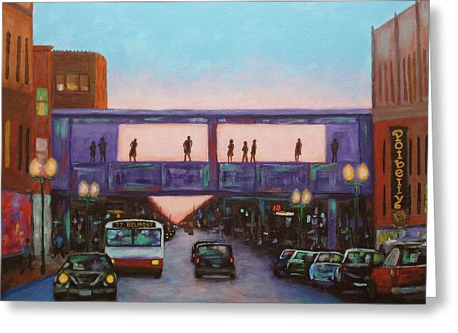Untied States Artist Greeting Cards - On Belmont Greeting Card by J Loren Reedy