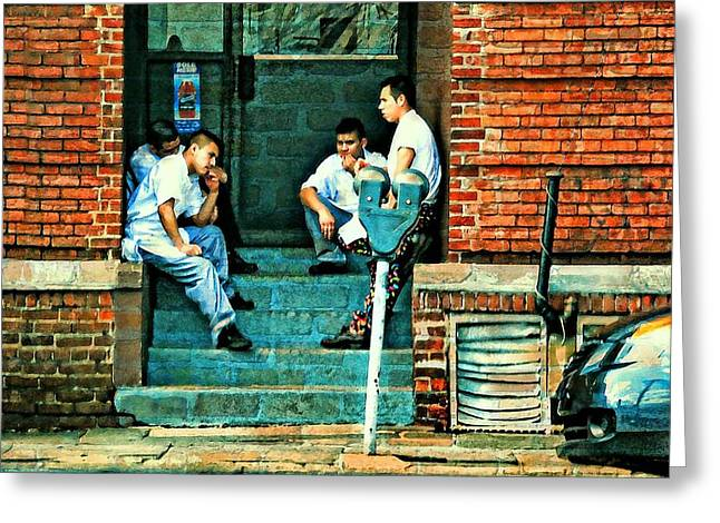 Backstreets Greeting Cards - On Break Greeting Card by Diana Angstadt