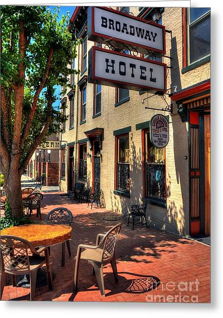 Indiana Scenes Greeting Cards - On Broadway Greeting Card by Mel Steinhauer