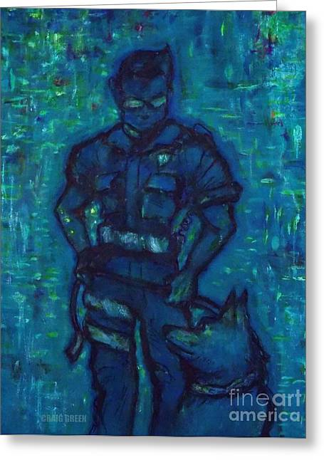 Law Enforcement Paintings Greeting Cards - On Command I I Greeting Card by Craig Green