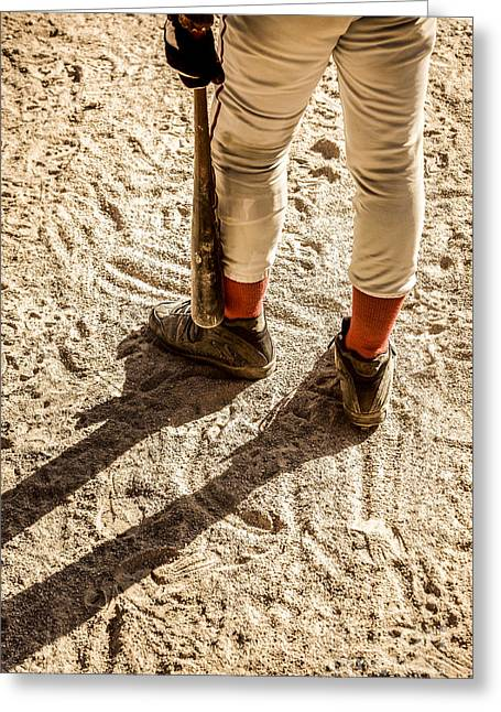 Baseball Fields Greeting Cards - On Deck Greeting Card by Diane Diederich