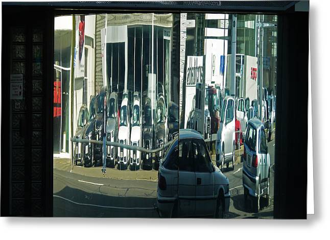 Forecourt Greeting Cards - On Dumpty Street Greeting Card by Steve Taylor