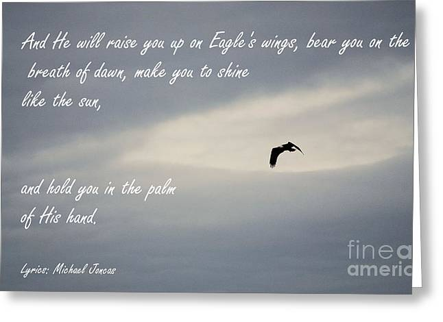 Pinterest Greeting Cards - On Eagles Wings Greeting Card by Sharon Elliott