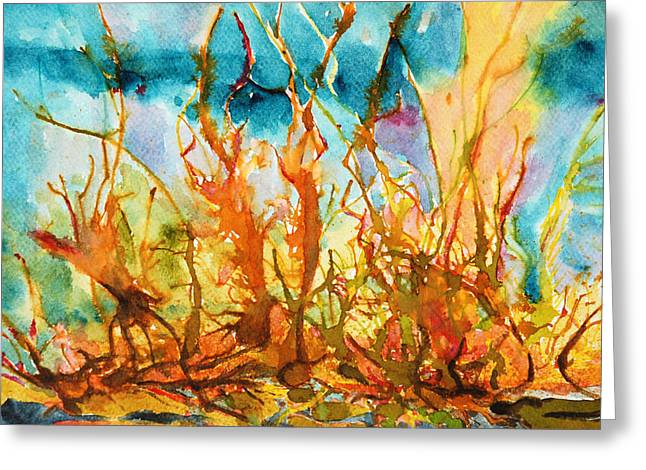 On Fire Mixed Media Greeting Cards - On fire Greeting Card by Magdalena Walulik