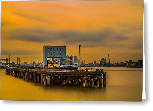 Transport For London Greeting Cards - On Fire Greeting Card by Tedz Duran