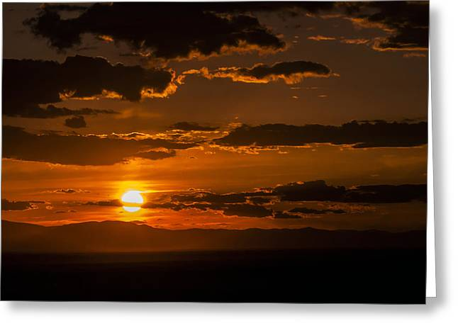 On Fire Greeting Card by The Forests Edge Photography - Diane Sandoval