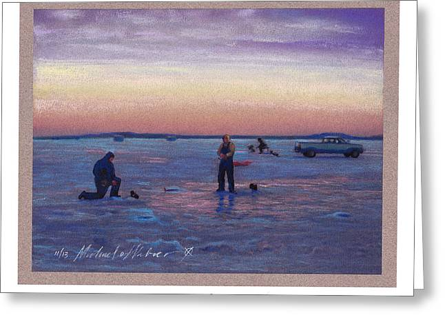 Ice Pastels Greeting Cards - On Frozen Pond Greeting Card by Michael  Weber
