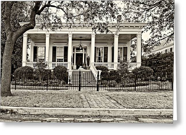 Southern Class Greeting Cards - On Guard in New Orleans sepia Greeting Card by Steve Harrington