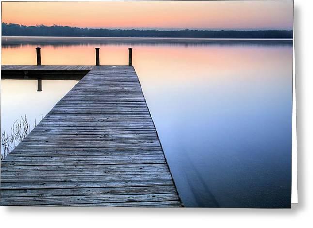 Florida Panhandle Greeting Cards - On Lake Jackson Greeting Card by JC Findley