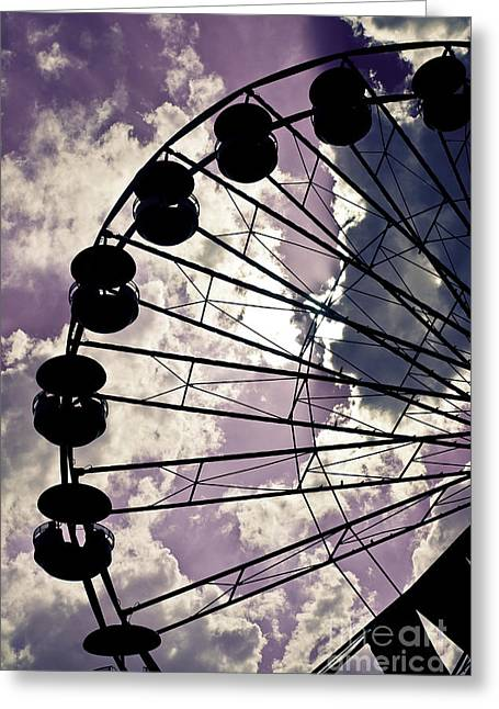 Spokes Greeting Cards - On Lavender Clouds Greeting Card by Colleen Kammerer