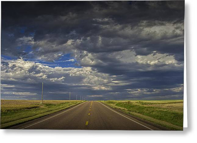 Montana Landscape Art Greeting Cards - On Montana Highway 2 Greeting Card by Randall Nyhof