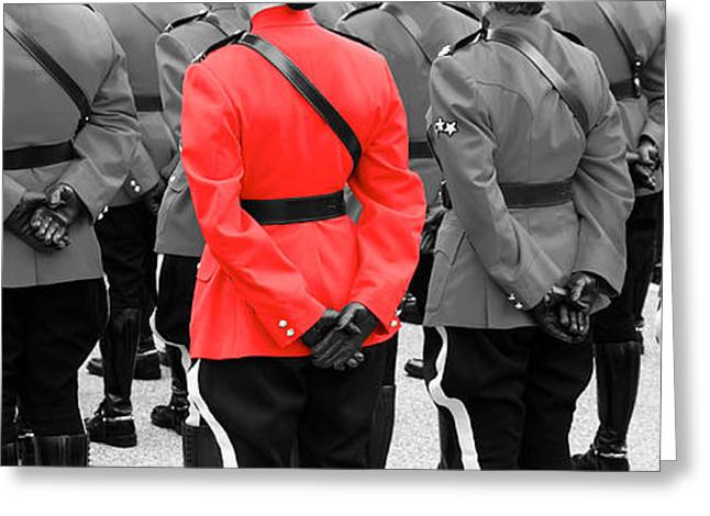 Police Officer Greeting Cards - On Parade Greeting Card by Ivan SABO
