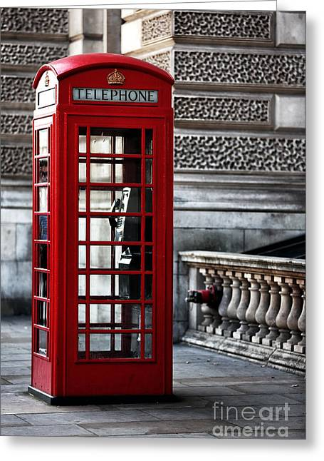 Posters On Greeting Cards - On Parliament Street Greeting Card by John Rizzuto