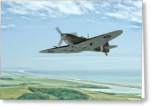 Military Planes Greeting Cards - On Patrol Greeting Card by John Edwards