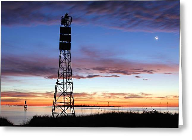 Stream Greeting Cards - On Pensacola Bay Greeting Card by JC Findley