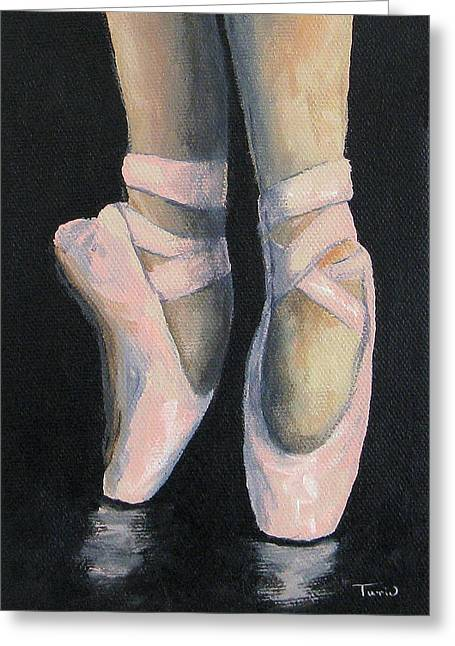 Ballet Pink Greeting Cards - On Point IV Greeting Card by Torrie Smiley