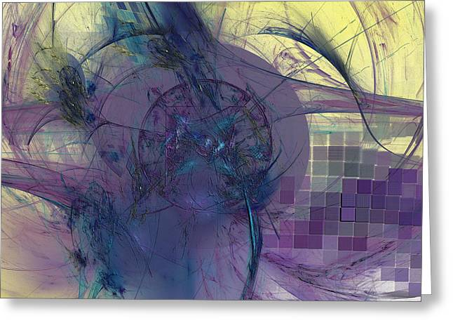 On Psychic Energy Greeting Card by Jeff Iverson