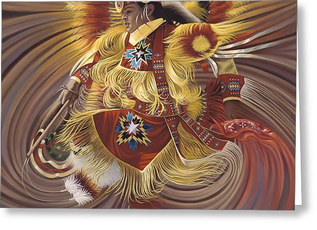 On Sacred Ground Series 4 Greeting Card by Ricardo Chavez-Mendez