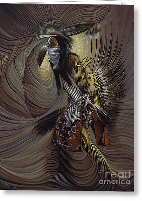 Fancy-dancer Greeting Cards - On Sacred Ground Series IIl Greeting Card by Ricardo Chavez-Mendez