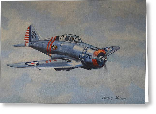 Murray Mcleod Paintings Greeting Cards - On Silver Wings Greeting Card by Murray McLeod