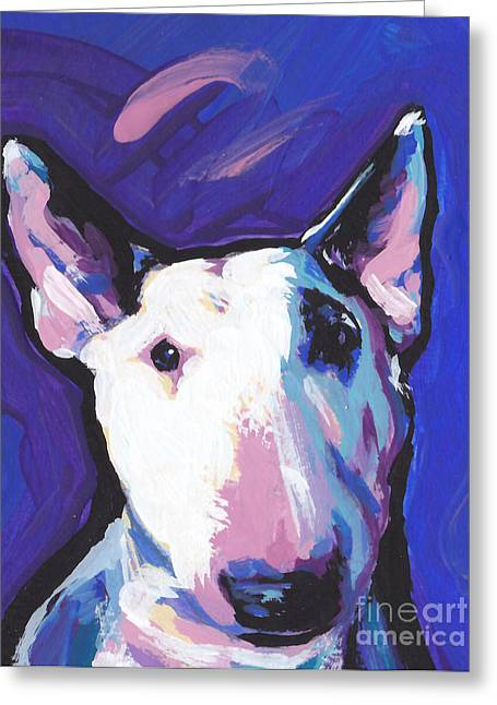 Bull Terrier Greeting Cards - On Spot Greeting Card by Lea