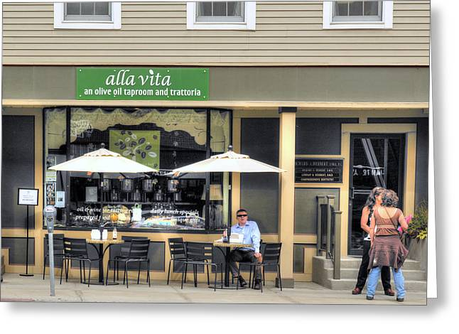 Counterculture Greeting Cards - On State Street - Montpelier Vermont Greeting Card by Geoffrey Coelho