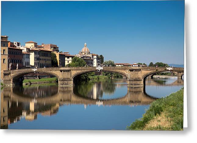 Reflections In River Greeting Cards - On sunny afternoon.. Greeting Card by A Rey