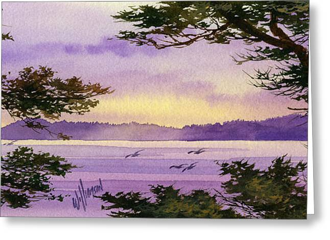 Print On Canvas Greeting Cards - On That Radiant Shore Greeting Card by James Williamson