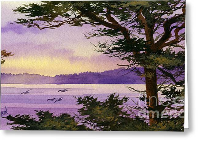 Landscape Framed Prints Greeting Cards - On That Radiant Shore Greeting Card by James Williamson
