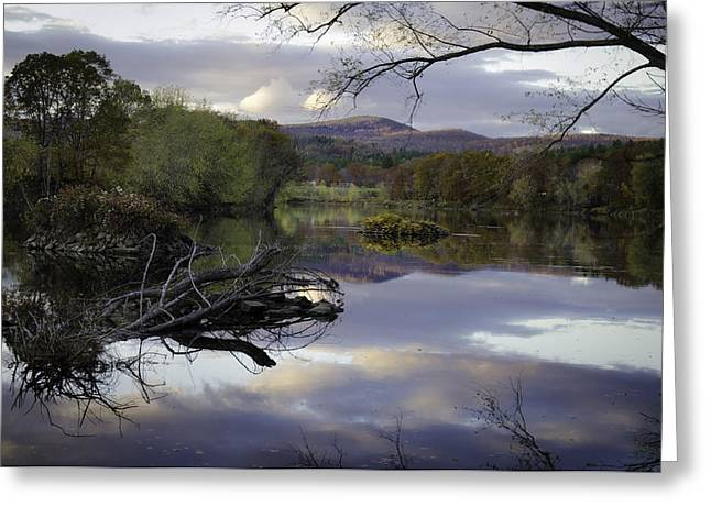 Androscoggin Greeting Cards - On the Androscoggin Greeting Card by Lisa Bryant