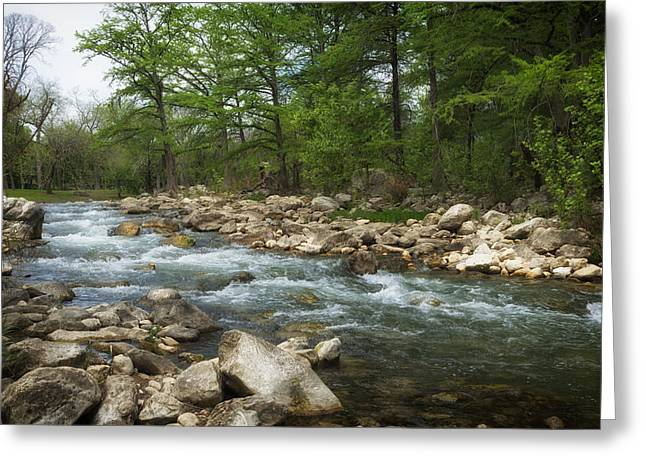Guadalupe Greeting Cards - On the Banks of the Guadalupe River Greeting Card by Mountain Dreams