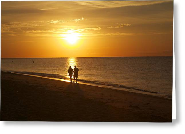 On The Beach Greeting Card by Allan Morrison