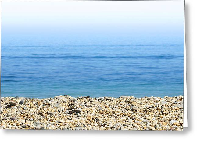 Ocean Panorama Greeting Cards - On the Beach Greeting Card by Chevy Fleet