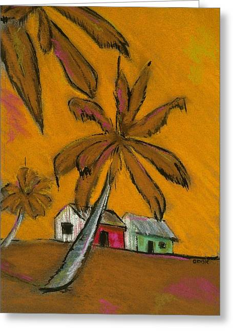 Bright Pastels Greeting Cards - On The Beach Greeting Card by Danyl Cook