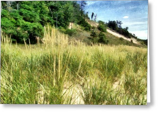 Seaside Digital Greeting Cards - On the Beach Greeting Card by Michelle Calkins