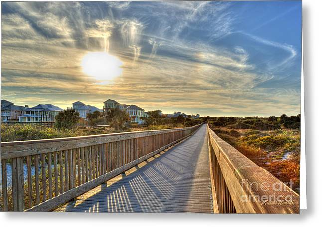 Michelle Greeting Cards - On The Boardwalk St Augustine Florida Greeting Card by Michelle Wiarda
