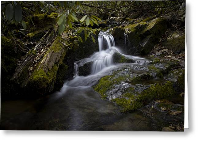 Waterfall Photography Greeting Cards - On the Boone Fork Trail Greeting Card by Ben Shields
