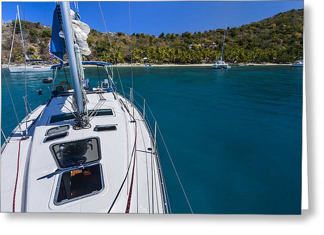 St Thomas Greeting Cards - On the Bow Greeting Card by Adam Romanowicz